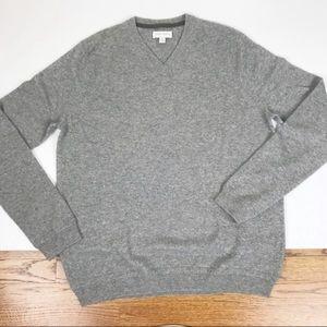 John W Nordstrom V-Neck Cashmere Pullover L Tall
